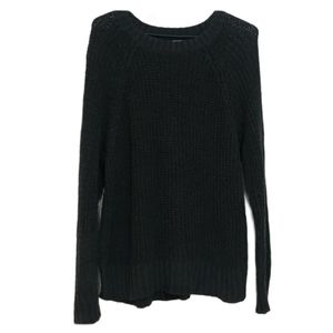 Aerie Open Knit Charcoal Grey Sweater